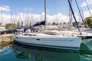 sailing boat in marina